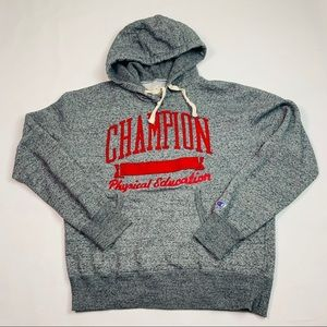 VTG Champion Men Fleece Grey Phyical Edu. Hoodie M